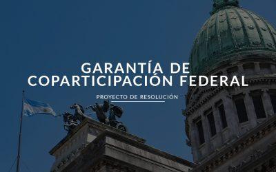 Proyecto de Garantía de Coparticipación Federal