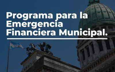 """Presentamos el proyecto """"Programa para la Emergencia Financiera Municipal"""""""